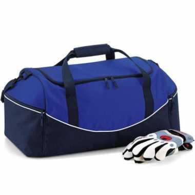 Blauwe weekendtassen 30 liter