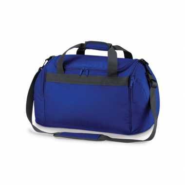 Compacte weekendtas kobalt blauw 26 liter