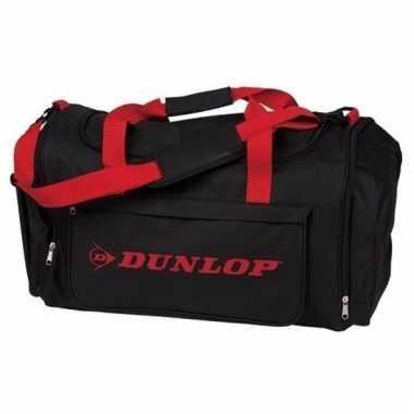 Dunlop weekendtassen zwart met rood