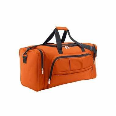 Oranje weekendtas 62 cm