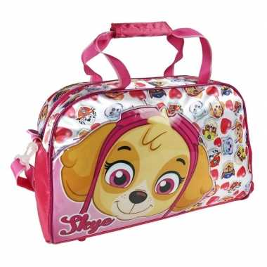 Roze paw patrol tas voor meisjes 39 cm