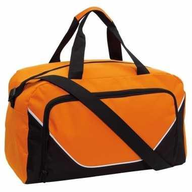 Voetbaltas oranje/zwart 29 liter