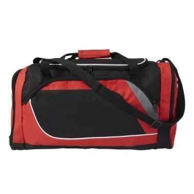 Voetbaltas rood met zwart 45 liter