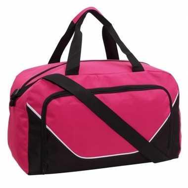 Voetbaltas roze/zwart 29 liter