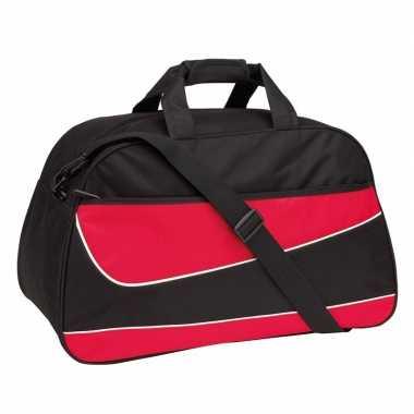 Weekendtas/weekendtas rood/zwart 55 cm