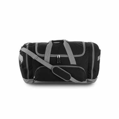 Weekendtas zwart/grijs 69 cm