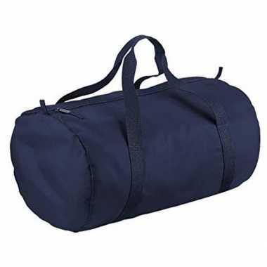 Weekendtassen blauw rond 32 liter