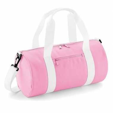 Weekendtassen roze rond 12 liter voor meisjes