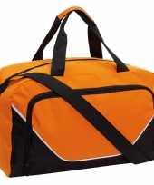 Voetbaltas oranje zwart 29 liter