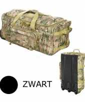Zwarte trolley weekend tas commando